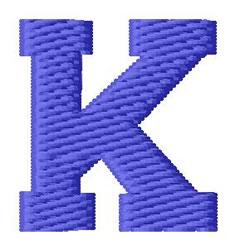 Sport Letter K embroidery design