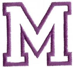 Sport M embroidery design