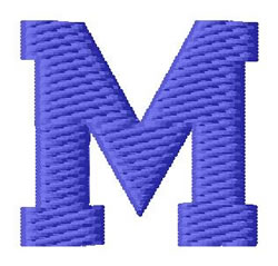 Sport Letter M embroidery design