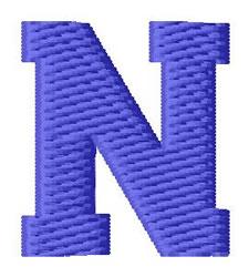 Sport Letter N embroidery design