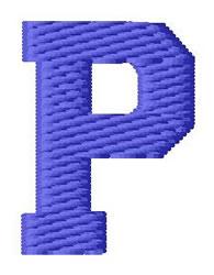 Sport Letter P embroidery design