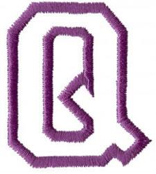 Sport Q embroidery design