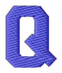 Sport Letter Q embroidery design