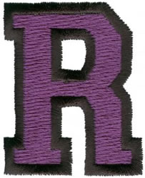 Sport R embroidery design