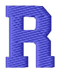 Sport Letter R embroidery design