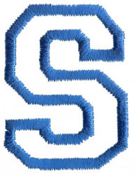 Sport S embroidery design