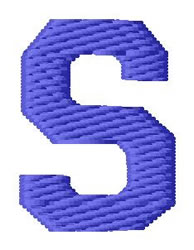 Sport Letter S embroidery design