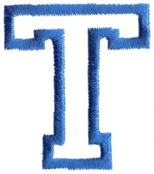 Sport T embroidery design