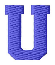 Sport Letter U embroidery design
