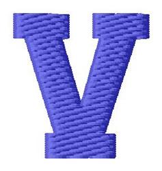 Sport Letter V embroidery design