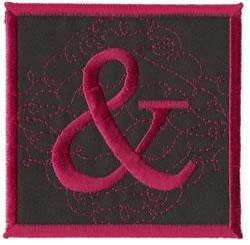 Square Applique Ampersand embroidery design