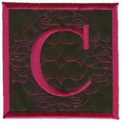 Square Applique C embroidery design
