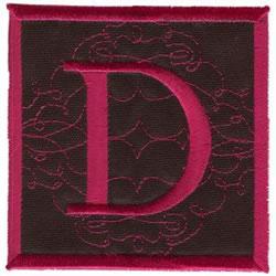 Square Applique D embroidery design