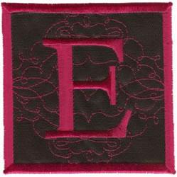 Square Applique E embroidery design