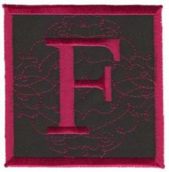 Square Applique F embroidery design