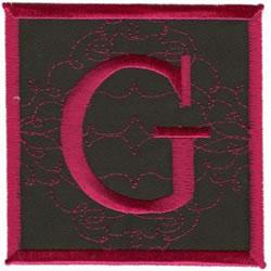 Square Applique G embroidery design