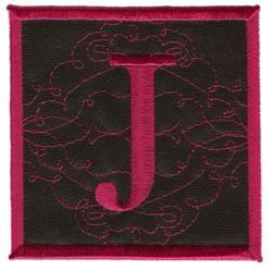 Square Applique J embroidery design