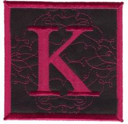 Square Applique K embroidery design