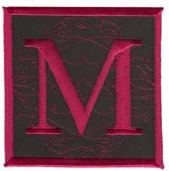 Square Applique M embroidery design
