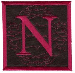 Square Applique N embroidery design