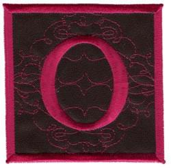 Square Applique O embroidery design