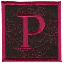 Square Applique P embroidery design