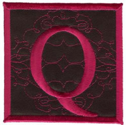 Square Applique Q embroidery design