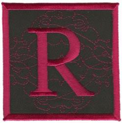 Square Applique R embroidery design