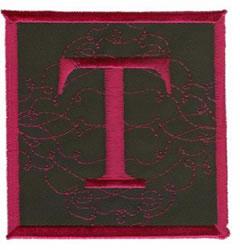 Square Applique T embroidery design