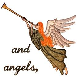 Wedding Quilt Angel embroidery design