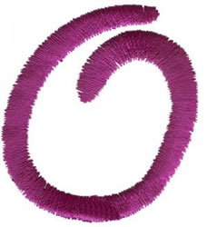 Squiggly 0 embroidery design