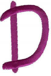 Squiggly D embroidery design