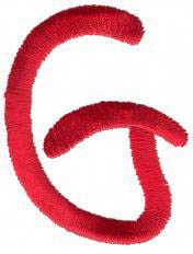 Squiggly G embroidery design