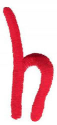 Squiggly h embroidery design