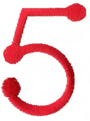 Stick 5 embroidery design