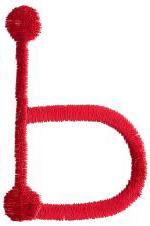 Stick b embroidery design