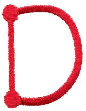 Stick D embroidery design
