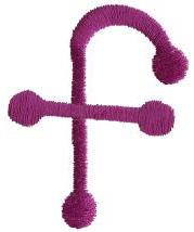 Stick f embroidery design