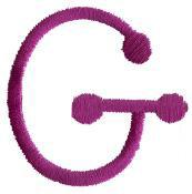 Stick G embroidery design