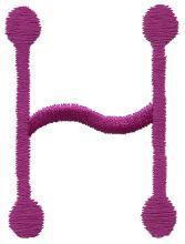 Stick H embroidery design