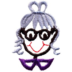 Grandma Face embroidery design