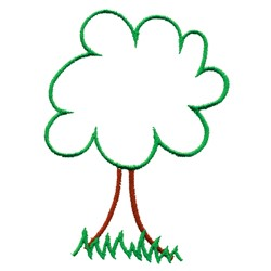 Deciduous Tree embroidery design