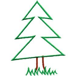 Coniferous Tree embroidery design
