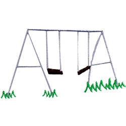 Swing Set embroidery design