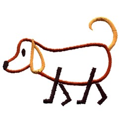 Stick Dog embroidery design