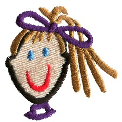Stick Girl Face embroidery design