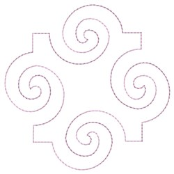 Swirl Quilting embroidery design