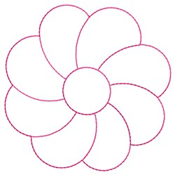 Flower Quilting embroidery design