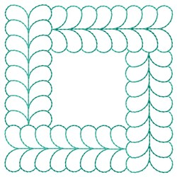 Feathered Square Quilting embroidery design