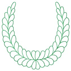 Feathered Wreath embroidery design